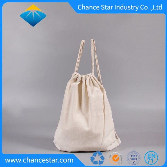 Custom Promotional Recycle Cotton Drawstring Bag