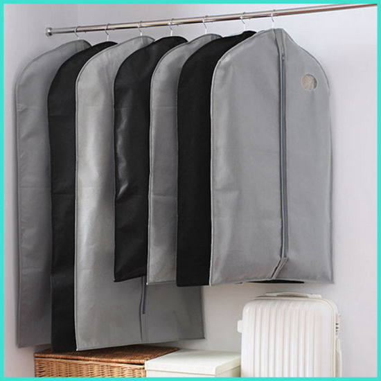 Clear Garment Bags With Pockets Travel Non Woven Suit Zipper