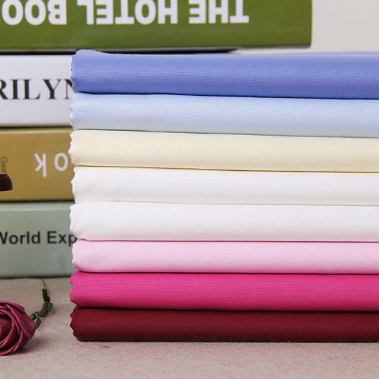 Combed Quality Polyester Cotton Plain Blouses Shirt Fabric