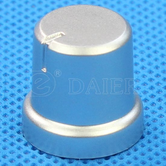 6mm Plastic Pointer Switch Chrome Guitar Knobs for Flat Shaft pictures & photos