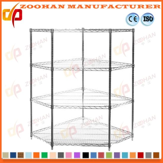 ... Chrome Home Closet Storage Wall Corner Wire Shelving (Zhw159) ...