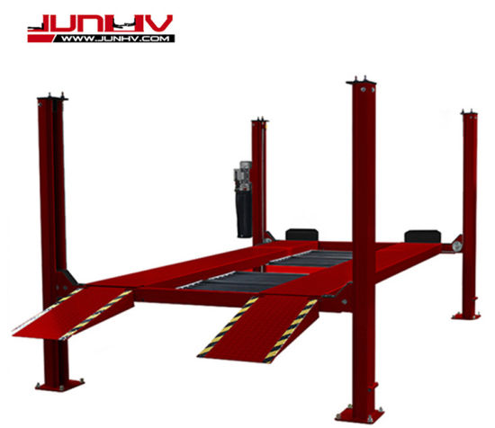 China Supply Single Cylinder Four Post Car Lift with Ce