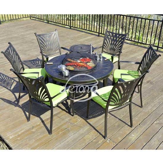 Garden Bbq Barbecue Grill Round Table