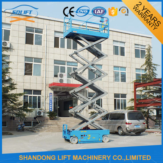 Hydraulic Scissor Self Propelled Man Lift Price pictures & photos
