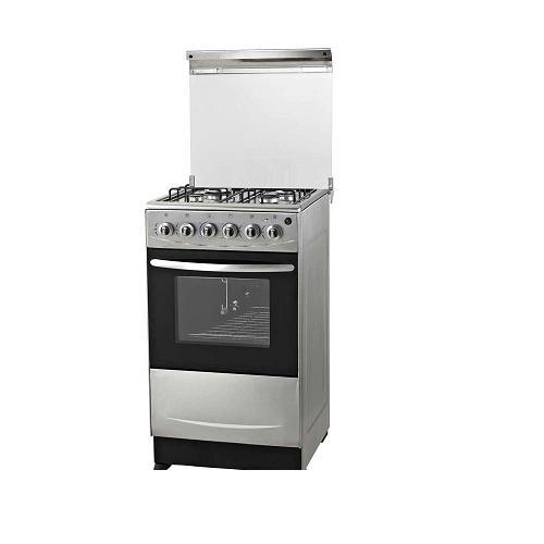 Stainless Steel 4 Burners Gas Cooker with Oven