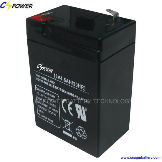 6V4.5ah Long Life Rechargeable Lead Acid Battery Emergency-Lighting-Equipment CS6-4.5 pictures & photos