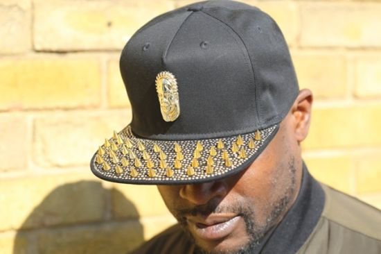 Metal Logo and Studs, PU Leather Trucker Cap Hat pictures & photos