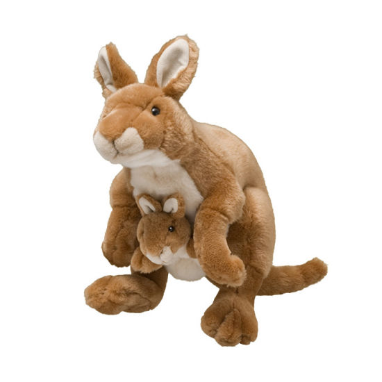 Wholesale Stuffed Plush Mother and Baby Kangaroo Soft Toys