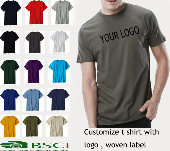 2aa80826 New Summer Design Short Sleeve Plain 100% Cotton Black Mens T Shirt with  Your Logo