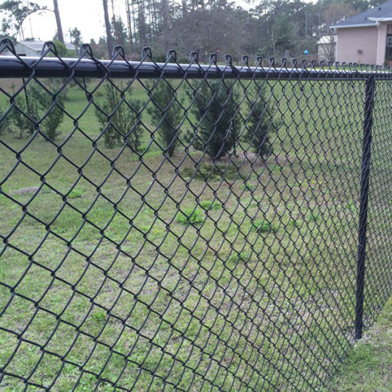 China 5 Foot Height Black Vinyl Chain Link Fence For Dog