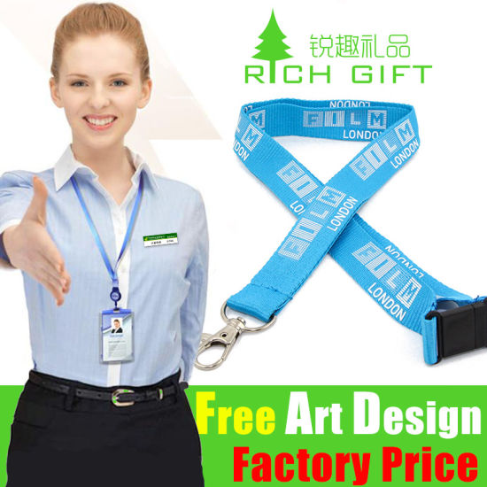 Factory Sell Enterprise Polyester/Sublimation Lanyard with Customized Logo