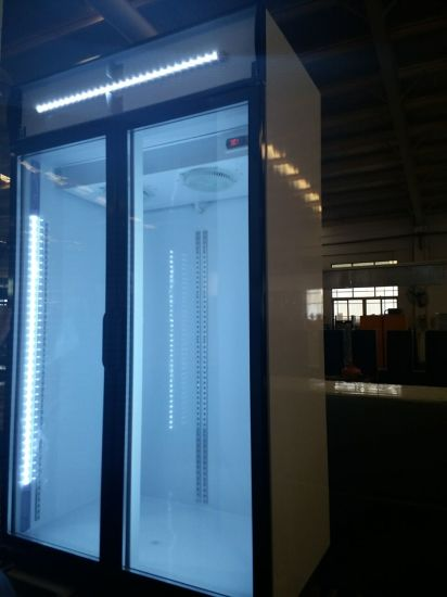 Professional Two Doors Upright Glass Door Coolers Made In China