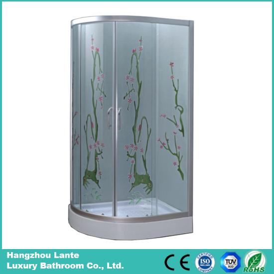 5mm Fiber Printed Glass Shower Cabin (LTS-825M)