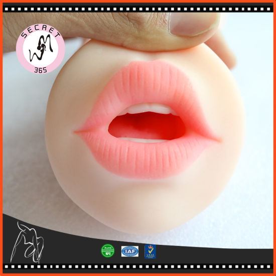 Male Masturbators 3D-Realistic Oral Blow-Job Deep Throat Teeth Tongue  Vagina Stroker808011