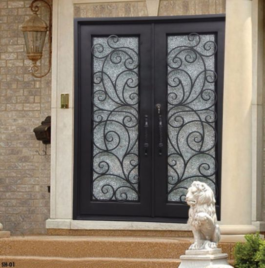 China Wrought Iron Door Main Gate Gate Grill Design China Door