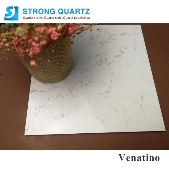 2cm Thick Carrara White Quartz Stone with Stock