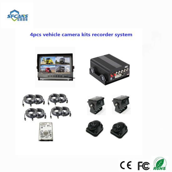 Mini SD Card School Bus System Mdvr 4CH 720p Ahd Car Vehicle Mobile DVR
