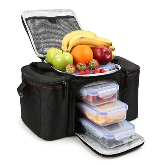 Cooler Warm Meal Insulated Lunch Bag With Snap Lid Containers And Ice Pack Bags