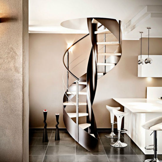 Outdoor Metal Steel Stainless Steel Spiral Stairs Design pictures & photos