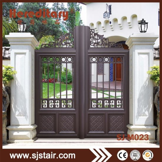 Outdoor Simple Aluminum Double Door Metal Main Gate for Courtyard