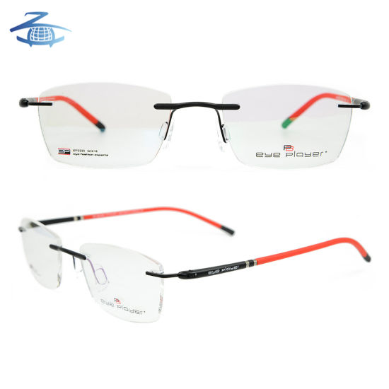 9adc6569aef Best Colorful Eyewear Fashion High Quality Glasses Super Light Metal Rimless  Optical Eyeglass Frames