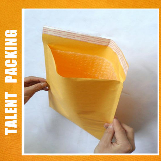 China Customized Printing Kraft Bubble Padded Mailer for