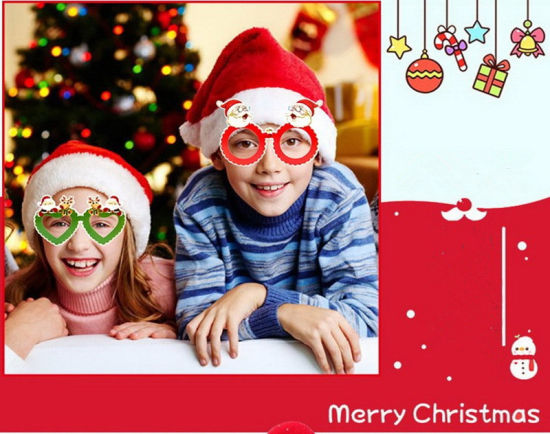 Christmas Evening Party.Hot Item 12pcs Funny Ornaments Glasses Frames Evening Party Toy Kids