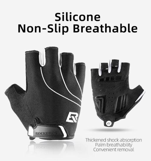 Men Women Cycling Gloves Half Finger Shockproof Wear Resistant Breathable MTB