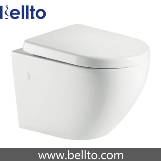 Water efficient toilets with rimless system (216R-W)