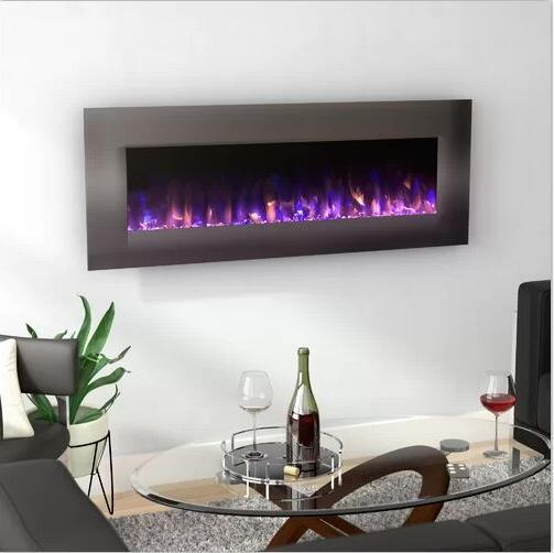 China Stainless Steel Wall Mounted Electric Fireplace China