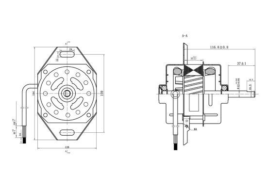 110 V 127v 220v Washing Machine Motor For Brazil Market With Cca Wire