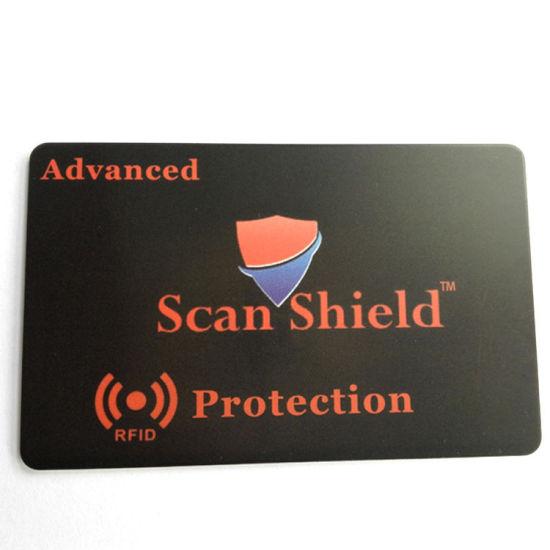 Plastic ID Card RFID Blocker / RFID Chip Blocking Cardfor Secure Protection