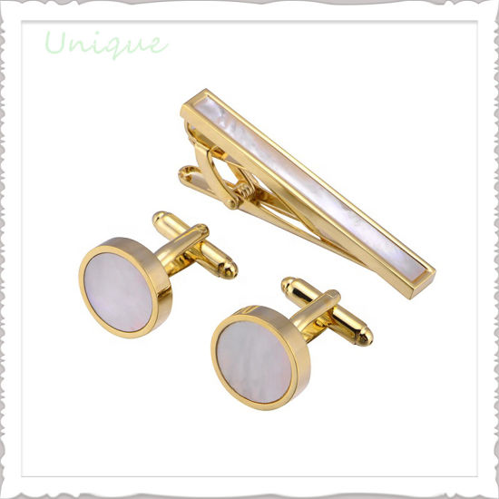 High Quality Metal Cuff Links Rare Abalone Cream Sea Shell Wedding Men Shirt Gold Silver Cufflink for Promotional Gifts
