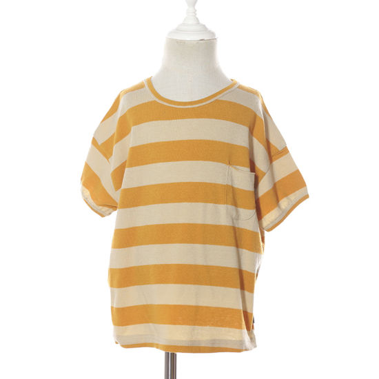 New Arrival Summer Boys Cotton Striped T-Shirt with Pocket for Kid Fashion Wholesale
