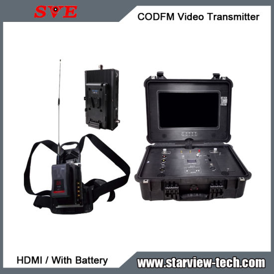 Portable Cofdm HDMI Nlos Wireless Mobile Video Transmitter LCD