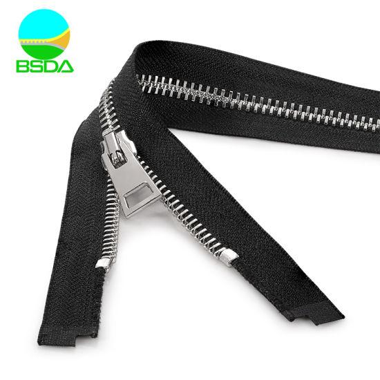 Can Customized Original Color Y Teeth Stainless Steel Metal Zipper for Backpack Zip