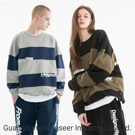 Customized Long Oversized Unisex 100% Cotton Printed Pullover Loose Warm Sports Wear Hoodies