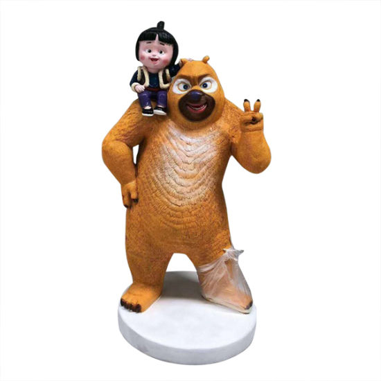 Customized High Quality Bear Figurine with Resin Material
