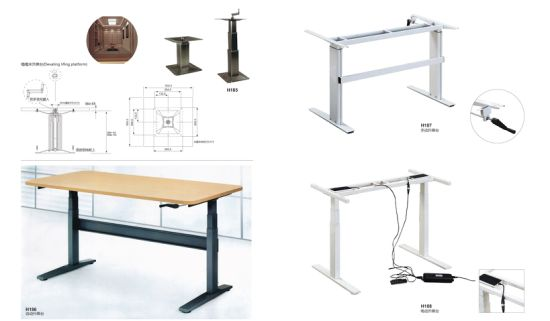 Electric and Hand Opertion Adjustable Table Steel Metal Leg pictures & photos