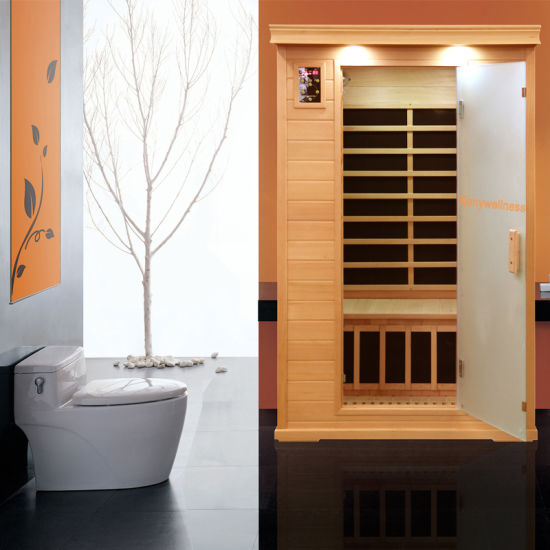 Personal Sauna Made of Hemlock Wood and Carbon Heater, Far Infrared Sauna Room as Hot Therapy Sauna Dome