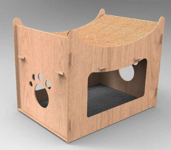 MDF Indoor Wooden Cat House Pet House Pet Products