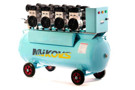 25L Mini White Quiet Oil Free Silent Dental Medical Air Compressor Water Lubrication Single Screw Air Compressor Yes Mute and Screw Type