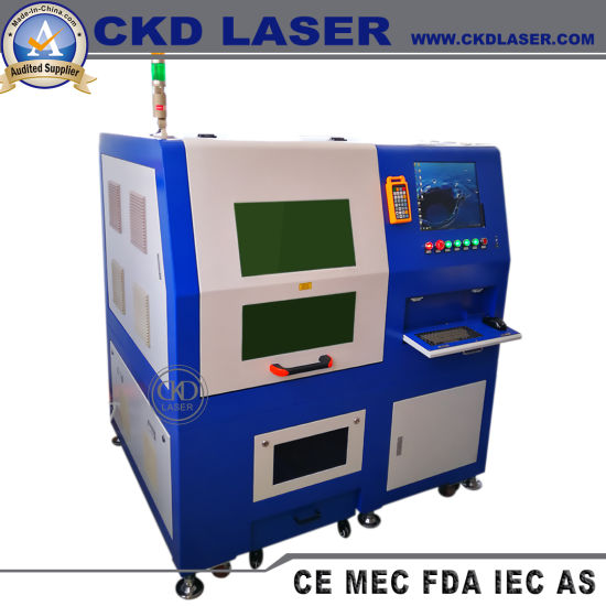 Small Mini CNC Fiber Laser Engraving Cutting Machine for Stainless Steel Metal Sheet Pipe Tube Cutter Aluminum Copper Brass Silver Spectacle Frame Glasses Leg