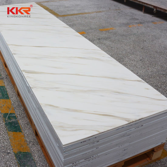 China Various Colors 12mm Thickness Solid Surface Corian Price Sheet Bathroom Solid Surface Showerwall Panel China Acrylic Shower Panels Corian Sheet