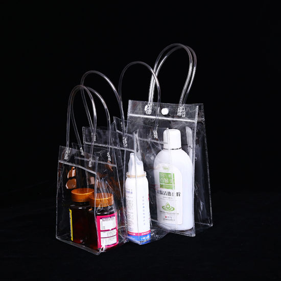 Simple Type Soft PVC Waterproof Bag for Promotional Gift Transparent Bag