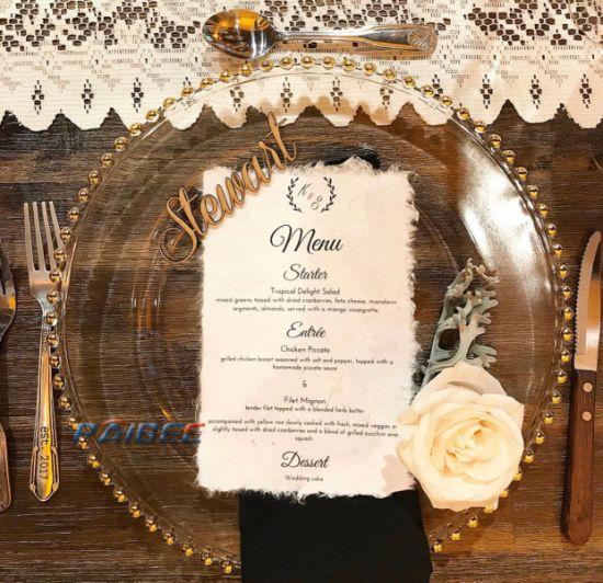 Glass Plates Wedding Decor Glass