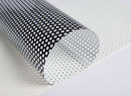 China One Way Vision Pvc Self Adhesive Perforated Vinyl