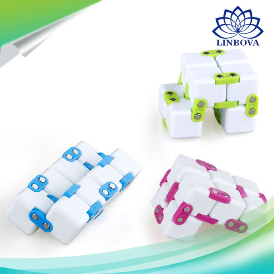 6 Colors Solid Magic Stress Relief Fidget Cube pictures & photos