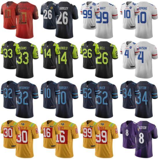 N-F-L 2019 City Edition Watt Mack Barkley Darnold Football Jerseys