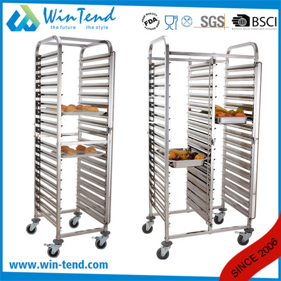 Latest Design Commercial Bakery Baking Pan Kitchen Storage Cooling Rack Stackable Trolley pictures & photos